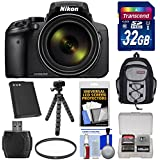 Nikon Coolpix P900 Wi-Fi 83x Zoom Digital Camera 32GB Card + Battery + Backpack + Flex Tripod + Filter + Kit