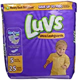 Health & Personal Care : Luvs Ultra Leakguards Disposable Diapers Size 5, 25 Count, JUMBO