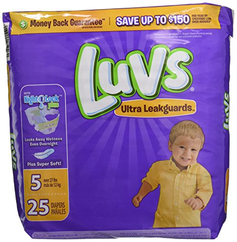 : Luvs Ultra Leakguards Disposable Diapers Size 5, 25 Count, JUMBO