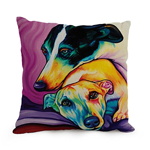 Artistdecor Dog Art Pillowcase 18 X 18 Inches / 45 By 45 Cm Best Choice For Her,kids Girls,office,home Theater,lover,boys With Double Sides