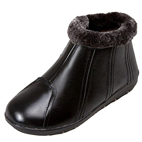 COOLCEPT Women Boots Zipper Black-2 2Oj0nB6XlE