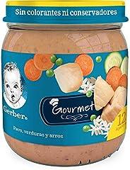 Gerber Papilla GERBER Junior Etapa 4 Comidita pavo con arroz y verduras, 250 gr, Paquete de 12