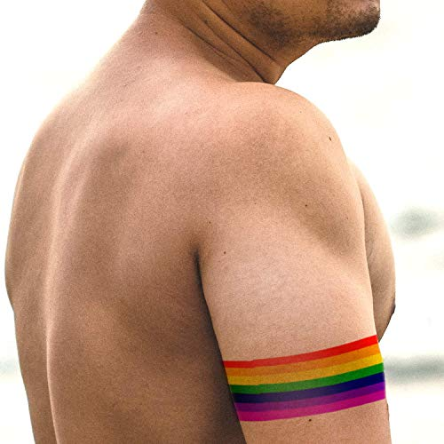 Rainbow Armband Tattoo | 4 Rainbow Temporary Tattoos
