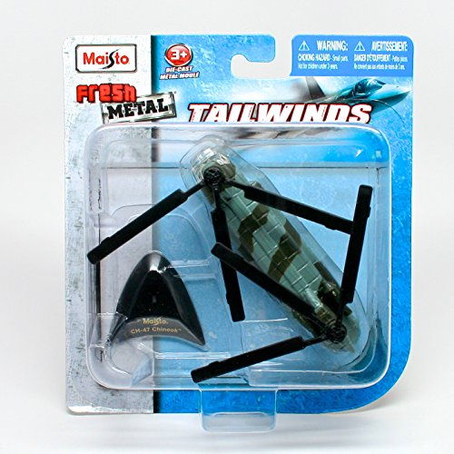 Boeing CH-47 Chinook Heavy-Lift Helicopter * Tailwinds * 2011 Maisto Fresh Metal Series Die-Cast Aircraft Collection, #15061