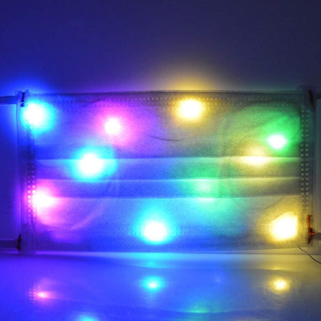 Natale Maschera LED 10 Colori Hween Luminoso Maschera per Uomo e Donna FEA della Musica Maschera Luminose lampianti