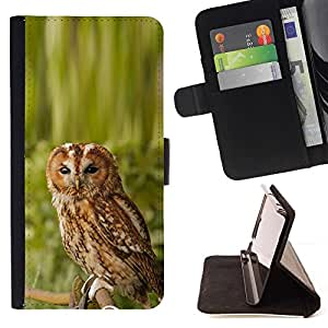 DEVIL CASE - FOR HTC One M9 - Cool Awesome Nature Owl - Style PU Leather Case Wallet Flip Stand Flap Closure Cover