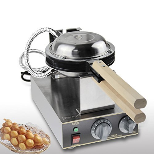 Changlong instrument® FY-6D Electric Non-stick Eggettes Bubble Waffle Maker Egg waffle maker Puff Bubble Waffle Egg waffle Maker-Rotated 180 Degree 220V/110V