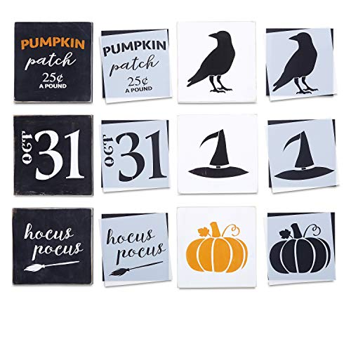 Reusable Halloween Sign Stencils for Painting on Wood