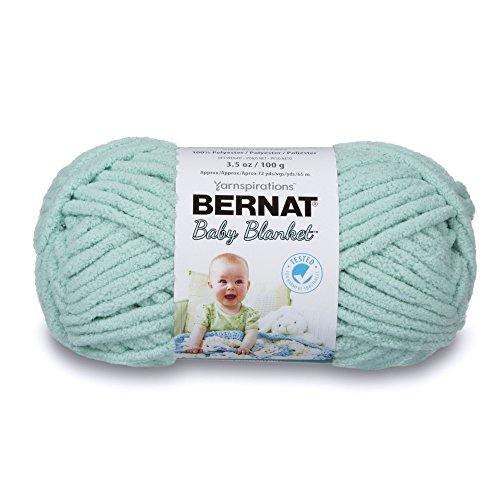 Bernat 16110303736 Baby Blanket Yarn - (6) Super Bulky Gauge  - 3.5oz - Green - Single Small Ball  Machine Wash & Dry -