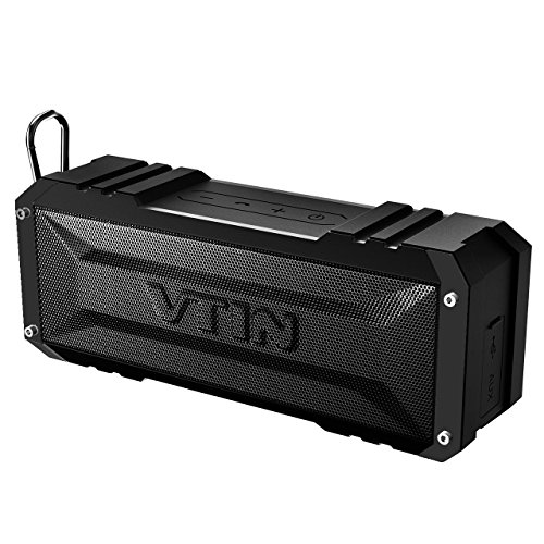 Vtin 20W Outdoor Bluetooth Speaker, Loud Volume, 30 Hours Playtime Portable Wireless Speaker, Waterproof, Dustproof, Shockproof for Indoor and Outdoor - Shower, Beach, Car, Home, Pure Black