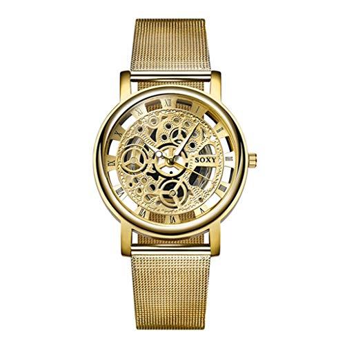 Willsa Fashion Watch Silver Golden Luxury Hollow Steel Watch