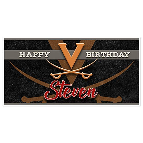 Virginia Cavaliers College Football Birthday Banner Party Decoration Backdrop