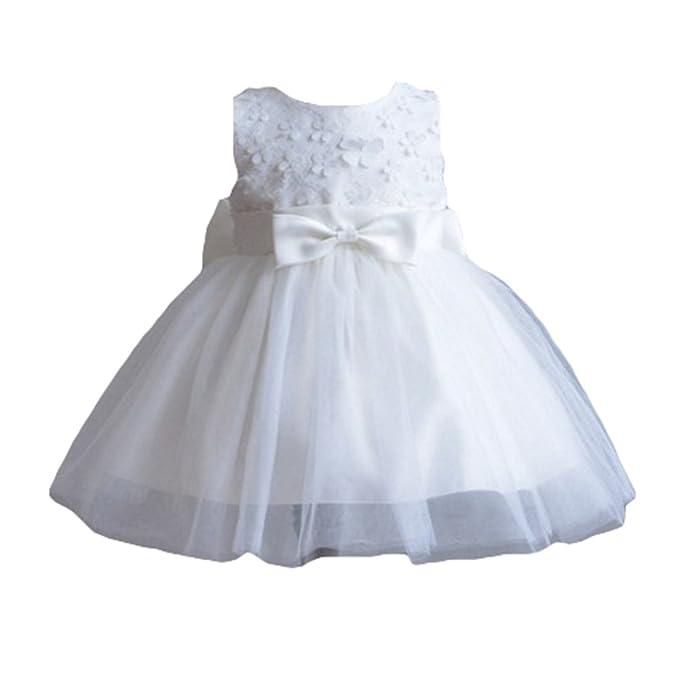 Batas de Bautismo de Navidad de Highdas Vestidos de Fiesta 1ª Fiesta de Cumpleaños Blanco 12