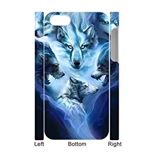 3D Bumper Plastic Case Of Wolf Howling customized case For Iphone 4/4s