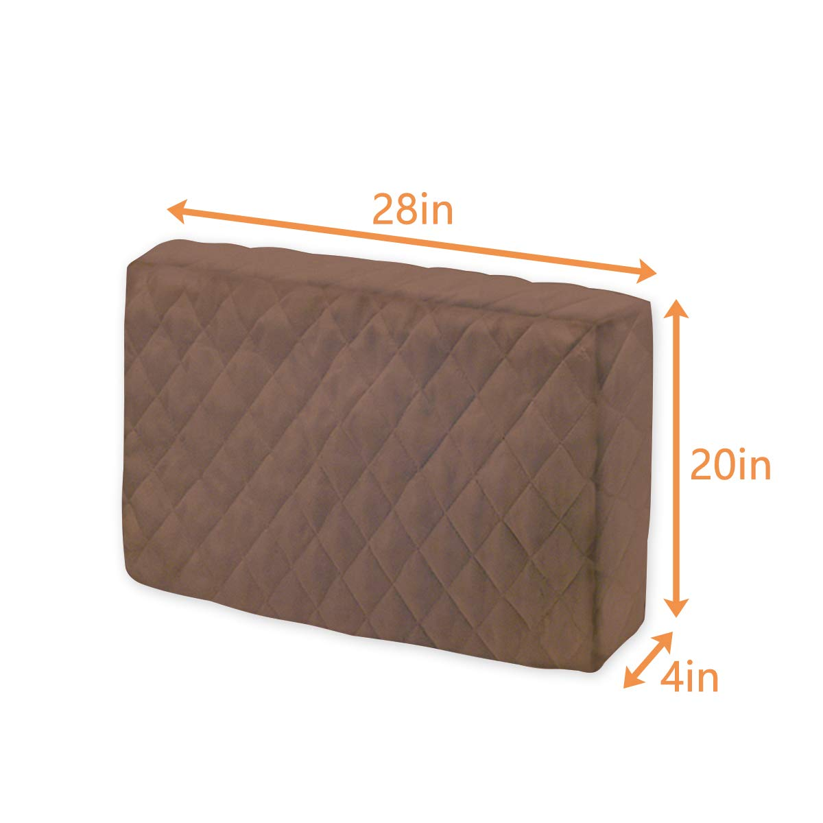 Double Insulation Windblock LBG Products Indoor Air Conditioner Cover for Window A//C Unit,Brown Color 21L x 14H x 4D