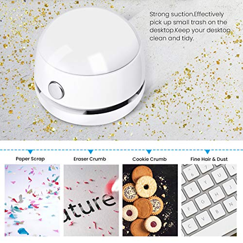 MECO Desktop Vacuum Desk Dust Cleaner Mini Table Dust Vaccum Cleaner, Best Cleaner for Cleaning Dust,Hairs,Crumbs,Scraps for Laptop,Piano,Computer,Car and Pet House