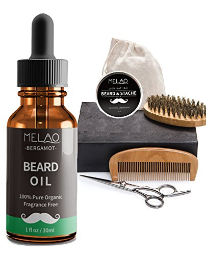 Beard Oil Conditioner & Softener for Men Growth Oil, 8 Premium Oils Blended and Fruit Scent, Soften the Beard and Cures Beard Itch【NEW VERSION】