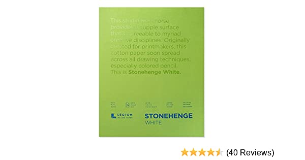Stonehenge Fine Art Paper Pad 9x12in 15 Sheets White Smooth Vellum