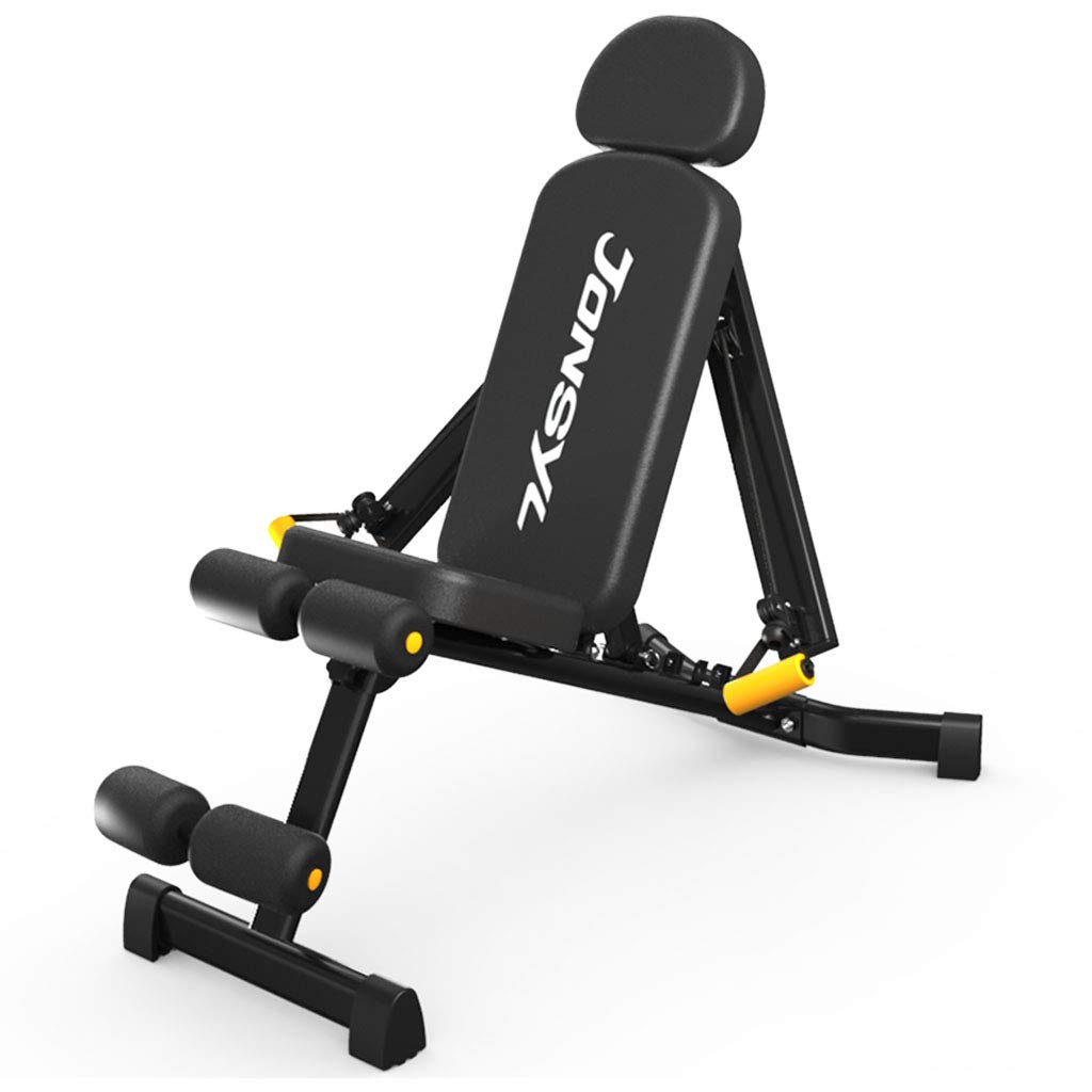 Standard Weight Benches Dumbbell Bench Home Multi-Function Supine Board Fitness Chair Fitness Equipment Supine Board Bench Press Bench (Color : Black, Size : 13255116cm)