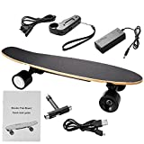 Leoneva Electric Longboard/E-skateboard, 350W/200W Motorized Longboard Max Range 10 Miles,Top Speed 20 MPH for Kids 8+ Years Old, Wireless Handheld Remote Control(US STOCK)