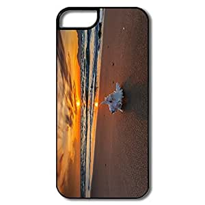 Custom Cartoon Interior Scratch Protection Beach IPhone 5/5s Case For Couples