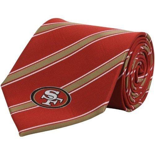 NFL San Francisco 49ers Men's Woven Polyester Necktie, One Size, Multicolor