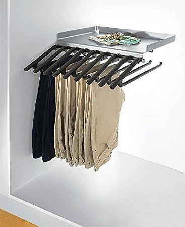 Hosentablar mit Ablage und 9 Kleiderbügel Hosenhalter ausziehbar ...