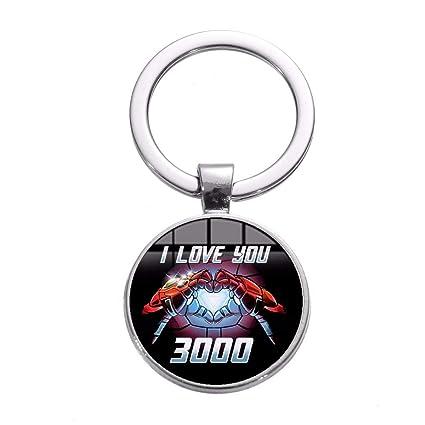 Te Amo 3000 Veces Iron Man Tony Stark Corazón Llavero Marvel ...