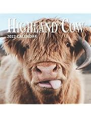 Highland Cow Calendar 2022: 16 Months Planner (Sept 2021 to Dec 2022)