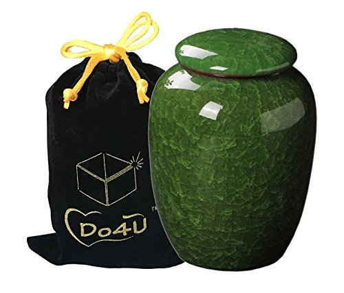 Do4U Cremation Urns Beautiful Life Urns in Keepsake Urns for Ashes (Malachite Green)