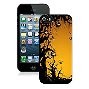 Personalized Iphone 5S Protective Cover Case Halloween iPhone 5 5S TPU Case 12 Black