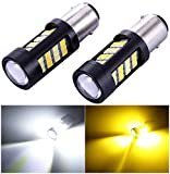 pontiac back lights - 1157 2057 2357 7528 Turn Signal White/Gold Switchback LED Light Bulbs 42 Epistar 2835 SMD chipsets with Projector, for Standard Socket, Not CK- Pair of 2
