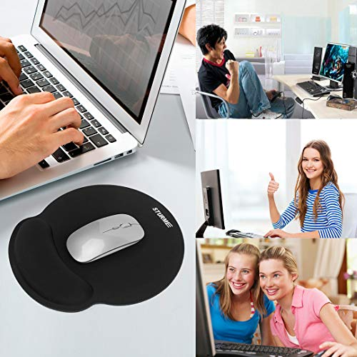 STURME Mouse Pad with Wrist Support Non-Slip Base Ergonomic Silicone Wrist Rest Use for Laptop, Home, Office Photo #6