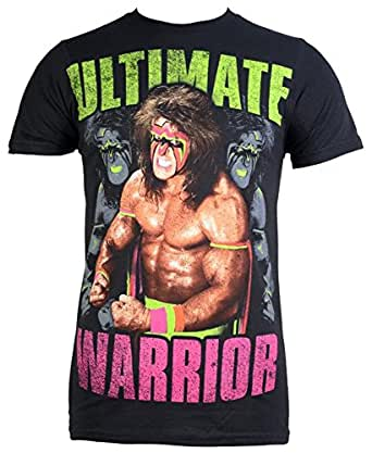 Ultimate Warrior, The - Darkness Mens Slim T-Shirt, Size: Small, Color: Black