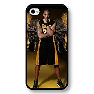 TYH - Customized Personalized Black Hard Plastic iPhone 5/5s Case, NBA Superstar Lakers Kobe Bryant iPhone 5/5s case, Only Fit iPhone 5/5s case ending phone case