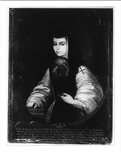 Historic Print (L): Self portrait of Sor Juana Ines de la Cruz