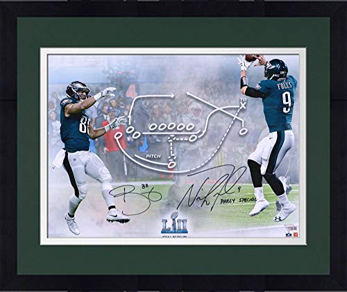 (Framed Nick Foles & Trey Burton Philadelphia Eagles Dual-Signed 16