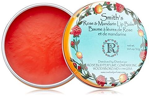 Rosebud Smith's Lip Balm, Rose and Mandarin, 0.8 Ounce - Rosebud Salve