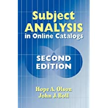 Subject Analysis in Online Catalogs, 2nd Edition