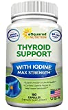 Premium Thyroid Support Supplement With Iodine (180 Capsules) – Best Herbal & Vitamin Complex w/ B12, Ashwagandha, Bladderwrack & Kelp – Helper for Healthy Hormone, Energy, Metabolism, & Weight Loss