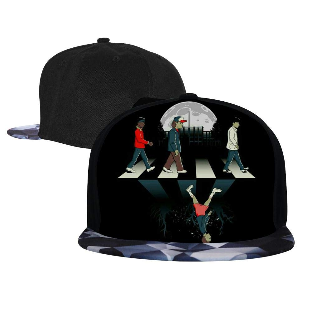 BEKAI Unisex S-tranger Thing-s Walk Adjustable Brimbill Flats Hat for Mens//Womens Hip Hop Caps