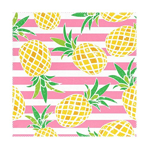 Lovexue Cute Summer Pineapple Placemats Table Place Mat for Kitchen Dining Room Polyester 12 x 12 inches 1 Piece