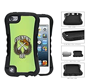 Country Boy Sign with Guns Cowboy Hat and Brown Wings with Green For HTC One M7 Case Cover (2-piece) Dual Layer High Impact Cell Phone Case