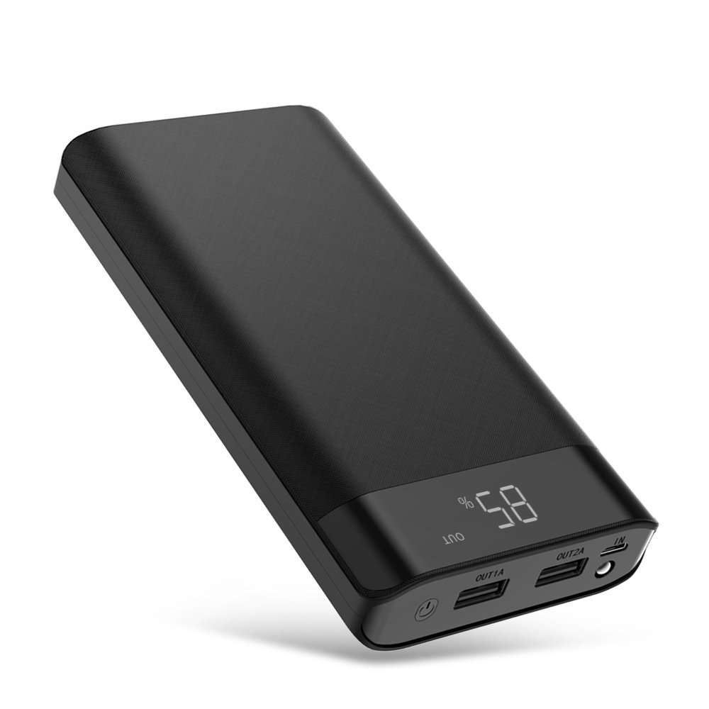 GIARIDE Power Bank, 20100mAh External Battery Pack Charger with 2A Input, Digi-Power Technology, Bright LED for iPhone 8 X 7 6 6S Plus, iPad, Samsung Galaxy, Smartphones and Tablets