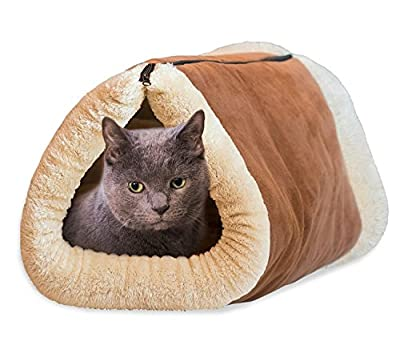 Kitty Shack - Cute Warm 2 in 1 Tube Cat Mat and Bed ?Brown? from yuxufeng