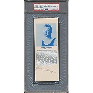 1968 74 Hof Bookmarks John Cat Thompson PSA/DNA Certified Certified Certified Autographed *3987