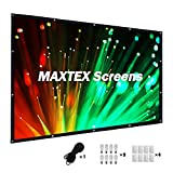 MAXTEX 100 inch Projector Screen, 16:9 Foldable Portable Projector Movies Screen Widescreen Front Projection Screen HD 3D Anti-Crease for Home Theater Outdoor