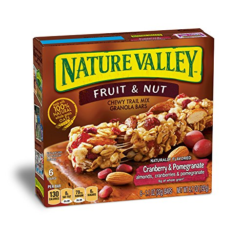 Nature Valley Granola Bars, Chewy Trail Mix, Cranberry & Pomegranate, 6.7 oz (6 Bars)