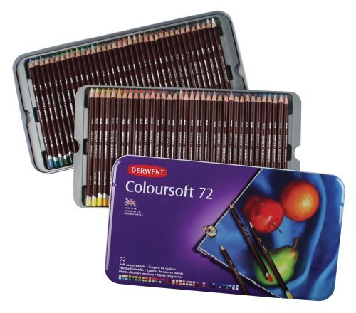 A tin of 72 Derwent Colored Pencils