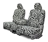 2005 ford escape zebra - Custom Seat Covers for Ford Escape Front Low Back Seats - Wide Stripe Zebra